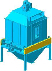 Охладитель гранул противоточный,  колонна охлаждения